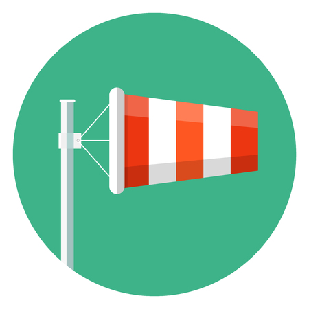 Airport windsock icon.Wind Sock Flat Icon Vector Illustration