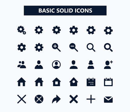 Basic web vector icons.