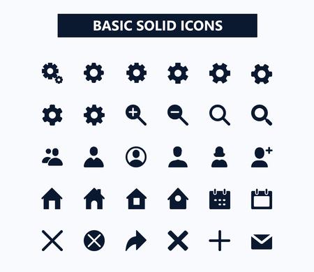 Basic web vector icons.