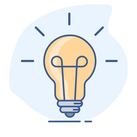 Light bulb line color icon. Vetores