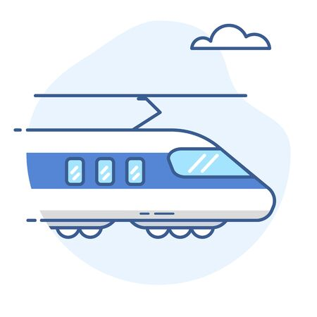 High-speed train line icon.Bullet train vector illustration. Ilustração