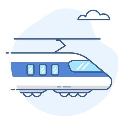 High-speed train line icon.Bullet train vector illustration. Çizim