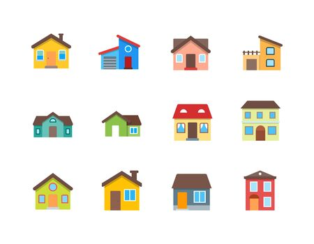 House Vector  Home flat icon set