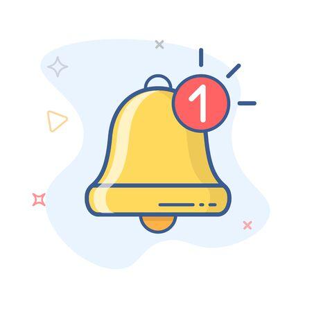 Nuevo vector de icono de notificación. Nuevo mensaje. Icono de contorno de vector de campana.