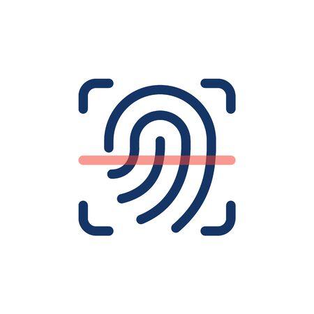 Scan fingerprint icon. Finger print outline icon. Çizim