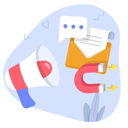 Digital Marketing concept flat illustration. 일러스트