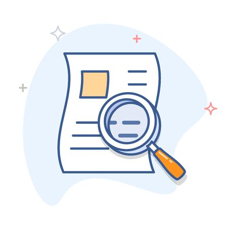 Search document outline vector icon.