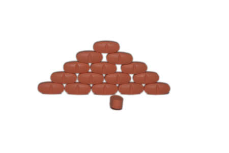 Piramide of pills with one loose pil Stock Photo - 2851127