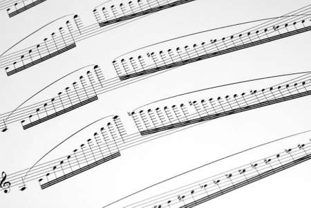 orchestrate: musical notes Stock Photo