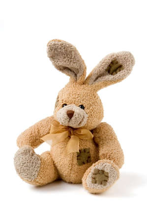 Sitting rabbit toy romatic gift Stock Photo