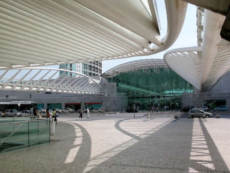 Modern urban building, shopping centre in Oeiras, Lisbon, Portugal