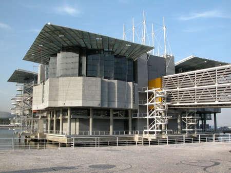 oceanarium: Modern building. Oceanarium in Lisbon, Portugal Stock Photo