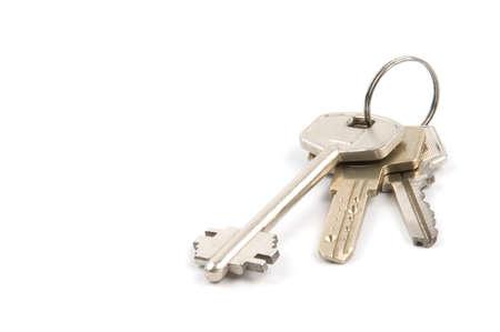 bunch of three silver metallic keys photo