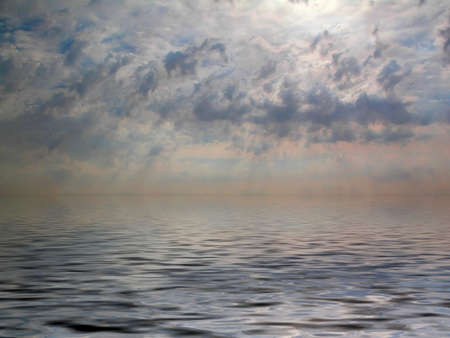 Beautiful cloudy sky reflection in the water Stock Photo - 1092265