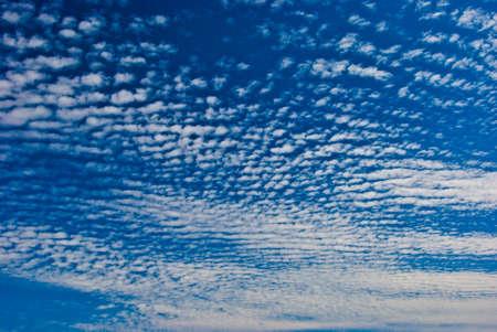 fleecy: The sky and white fleecy clouds.
