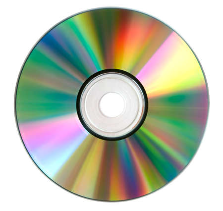 compact disk: Compact disk surface isolated over white. High resolution. No dust.