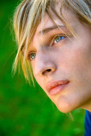 Close-up portrait of a stylish teenager Stock Photo