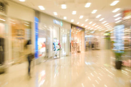 superstore: Mall interior. Blurred motion image