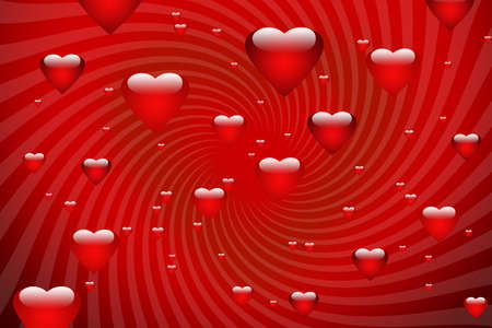 Valentines background with lot of hearts Stock Photo - 4165116