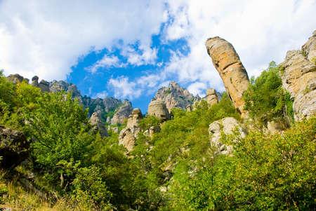 Paysage de montagne été en Crimée, Ukraine. Banque d'images - 4183846