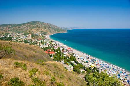 Summer landscape, Black Sea, Crimea, Ukraine photo