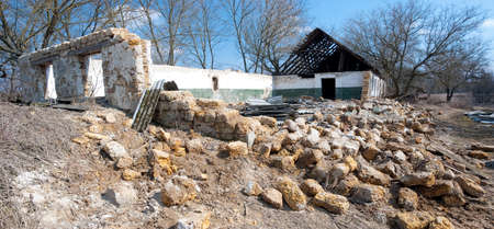 Panorama of abandoned house after earthquake Stock Photo - 4642196