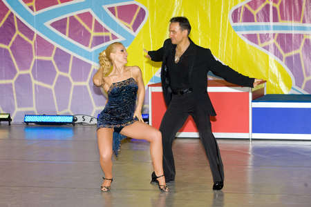 Salsa dancers compete on World Dance Olympiad photo