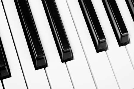 fragment: Fragment of a piano keyboard Stock Photo