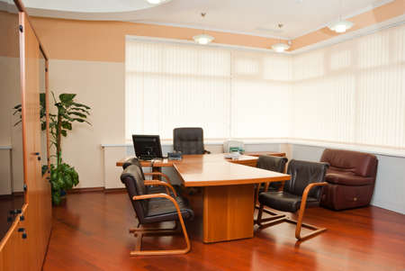 Modern office interior  - director's office with a place for meetings Stock Photo - 7084067