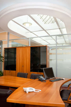 Modern office interior  - director's office with a place for meetings Stock Photo - 7084042