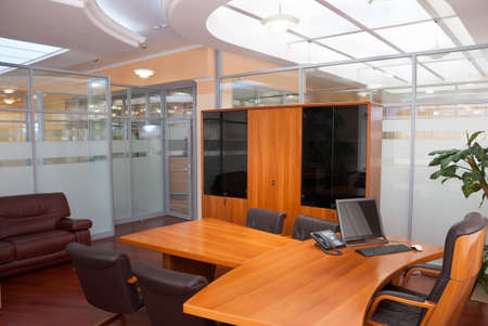 Modern office interior  - director's office with a place for meetings Stock Photo - 7084056