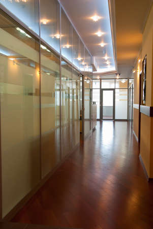 Modern office interior - perspective of a  corridor Stock Photo - 7084071