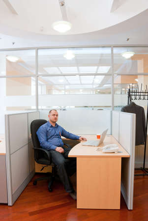 Portrait of an employee in the office  Stock Photo - 7084064