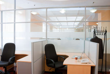 Modern office interior  - workplace Stock Photo - 7084055