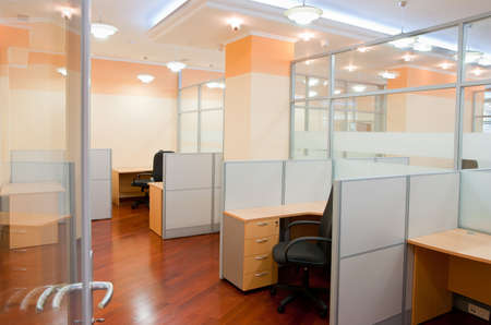 office furniture: Modern office interior  - workplace Stock Photo