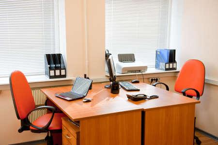 mobiliario de oficina: Interior de la oficina moderna - lugar de trabajo