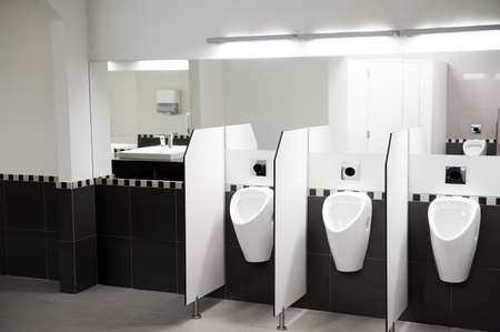 public restroom: Interior of a public WC
