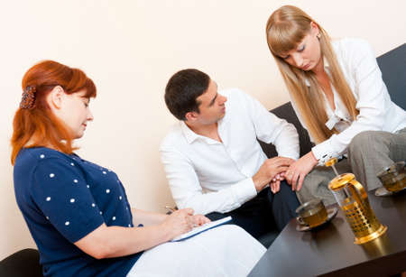 Young married couple consults at the psychologist Stock Photo - 10065452