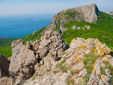 Summer mountain landscape in Laspi, Crimea, Ukraine Stock Photo - 13611315