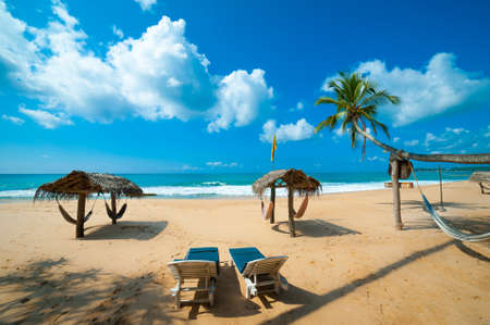 Tropical beach in Sri Lanka Stock Photo - 14813465