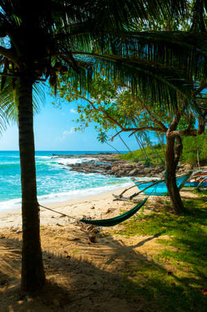 Tropical beach in Sri Lanka Stock Photo - 14920623