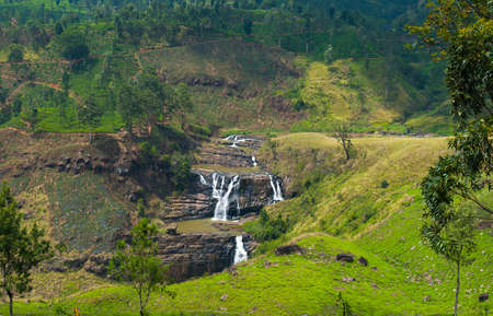clair: St Clair falls, Sri Lanka, the countrys widest waterfall. Stock Photo