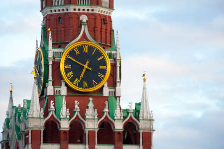 Kremlin chimes of the Spassky Tower. Moscow. Russia. Stock Photo - 15398487