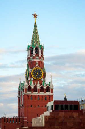 Spasskaya Tower of Moscow Kremlin. Stock Photo - 15398485