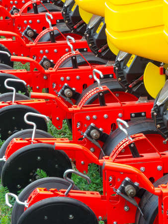 Part of new agronomic machine Stock Photo