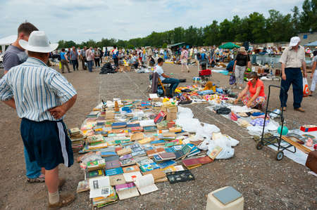 MOSCOW - JULY 7: Weekend flea market