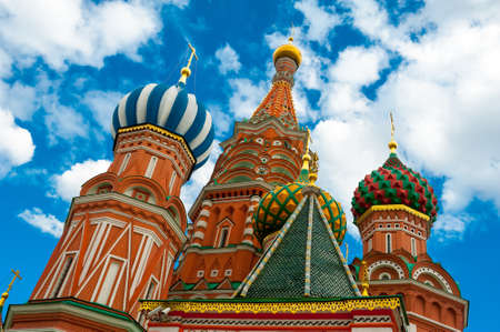 St. Basil's Cathedral on Red square, Moscow, Russia photo