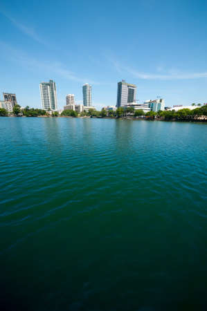 COLOMBO - APRIL 13: Panorama of Beira Lake on the day of April 13, 2012 in Colombo, Sri Lanka. Colombo is the largest city and the commercial, industrial and cultural capital of Sri Lanka. Stock Photo - 16585475