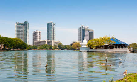 COLOMBO - APRIL 13: Panorama of Beira Lake on the day of April 13, 2012 in Colombo, Sri Lanka. Colombo is the largest city and the commercial, industrial and cultural capital of Sri Lanka.