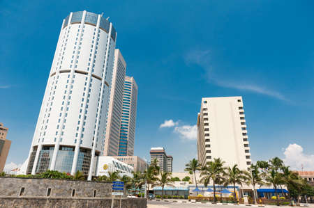 COLOMBO - APRIL 13: Panorama of World Trade Center and Bank of Ceylon on April 13, 2012 in Colombo, Sri Lanka. Colombo is the largest city and commercial, industrial and cultural capital of Sri Lanka.